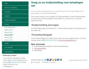 Webpagina RSD over kwijtschelding