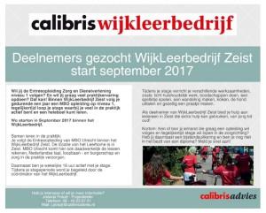 Folder Calibris WijkLeerbedrijf Zeist